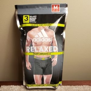 NWT Adidas 3-Pak Relaxed Boxer Brief Men Medium